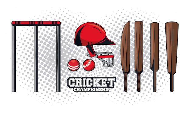 Joueur d'équipement de cricket