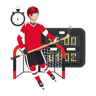 Joueur équipement de hockey