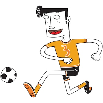 Joueur de foot ball heureux