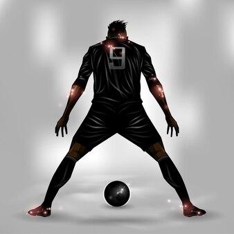 Joueur de foot prêt à tirer