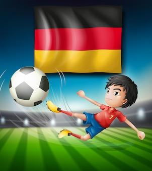 Un joueur de football allemand