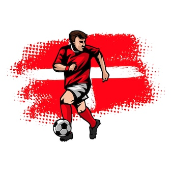 Joueur de football dribble
