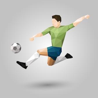 Joueur de football géométrique