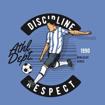 Joueur de football kick ball