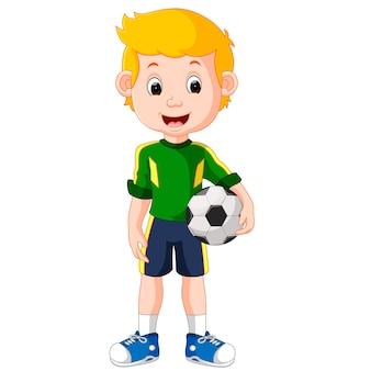 Joueur de football masculin de dessin animé
