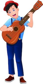 Joueur de guitare garçon