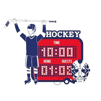 Joueur de hockey professionnel avec points de temps