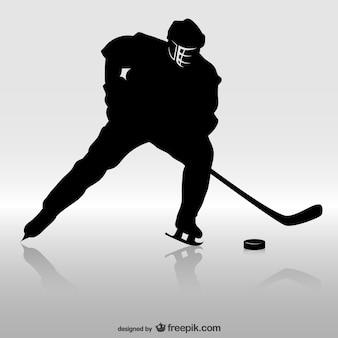 Joueur de hockey silhouette