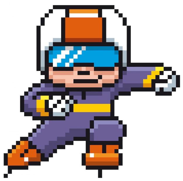 Joueur de patinage sur glace - dessin de pixels