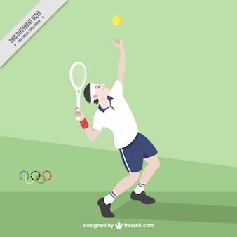 Le joueur de tennis fond