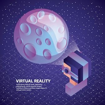 Joueur utilisant des lunettes de réalité virtuelle