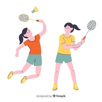 Joueurs de badminton