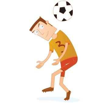 Les joueurs de football sont prêts à diriger le ballon