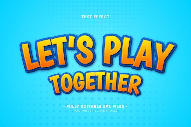 Jouons ensemble effet de texte