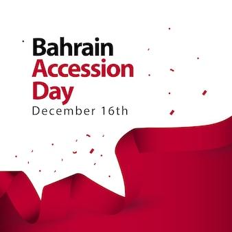 Jour de l'accession de bahreïn vector illustration de conception de modèle
