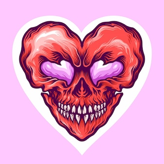Jour de l'amour du crâne de la saint-valentin