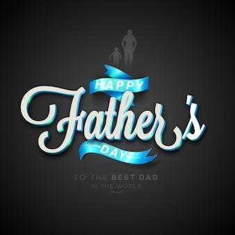 Jour l'arrière-plan belle père avec des rubans bleus