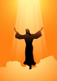 Le Jour De L'ascension De Jésus-christ Vecteur Premium