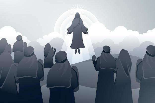 Jour de l'ascension avec jésus