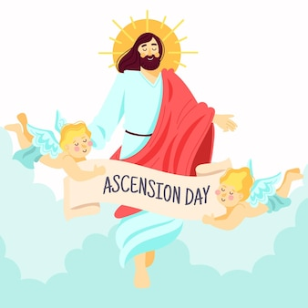 Jour de l'ascension de la résurrection de jésus