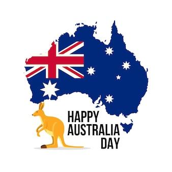 Jour de l'australie avec carte australienne