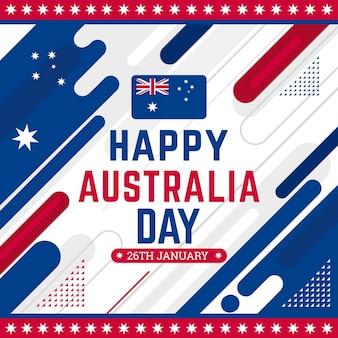 Jour de l'australie design plat
