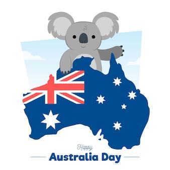 Jour d'australie dessiné à la main