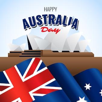Jour De L'australie Réaliste Et Sydney City Vecteur gratuit