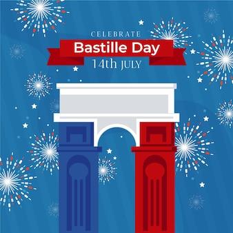 Le jour de la bastille illustré