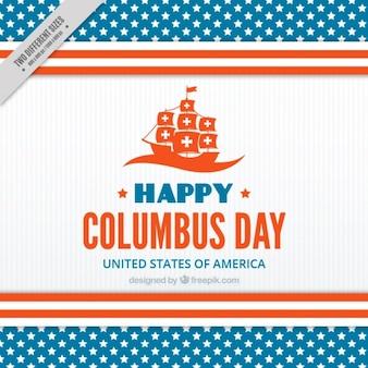 Jour de columbus heureux avec une caravelle
