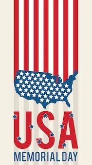 Jour commémoratif américain usa patriotique