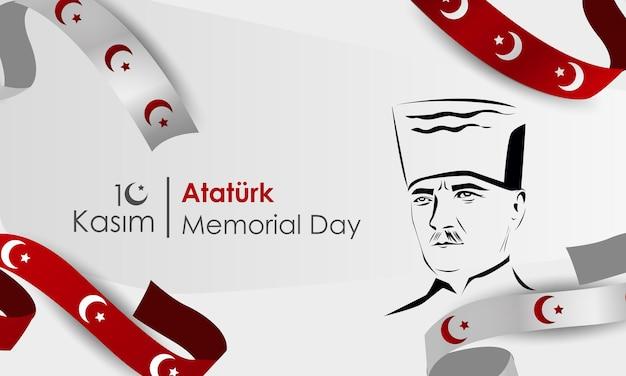 Jour Commémoratif De La République Turque Mustafa Kemal Atatürktraduction Novembe Traduction Novembe Vecteur Premium