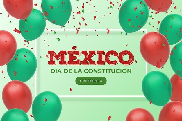 Jour de la constitution avec des ballons réalistes