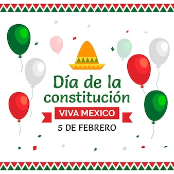 Jour de la constitution mexicaine plat