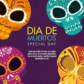 Jour des crânes morts avec décoration ornementale