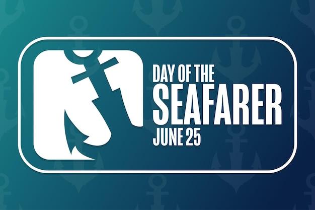 Jour du marin. 25 juin. concept de vacances. modèle d'arrière-plan, bannière, carte, affiche avec inscription de texte. illustration vectorielle eps10.