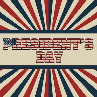 Jour du président aux etats-unis