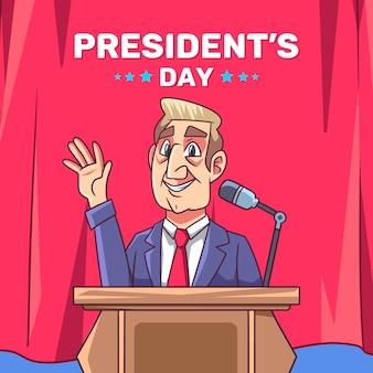 Jour du président dessiné à la main