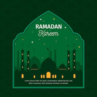 Jour du ramadan design plat