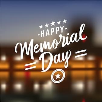 Jour du souvenir national américain flou