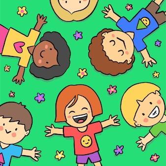 Jour des enfants dessinés à la main