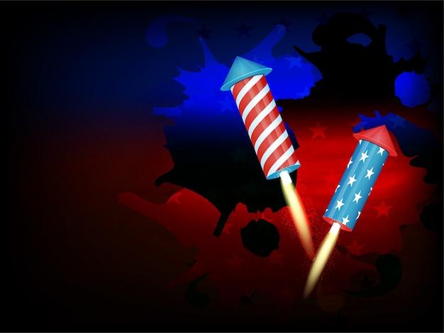 Jour férié fond blanc pays américain jour de l'indépendance