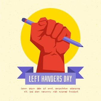 Jour de gauchers design plat