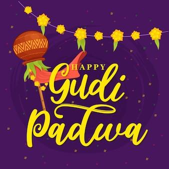 Jour de gudi padwa dessiné à la main