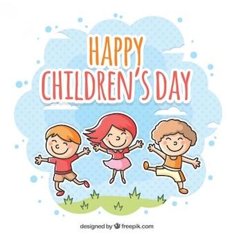 Jour de l'illustration des enfants heureux