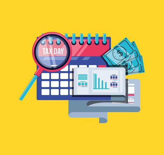 Jour d'impôts avec calendrier
