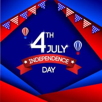 Jour de l'indépendance 4 juillet usa