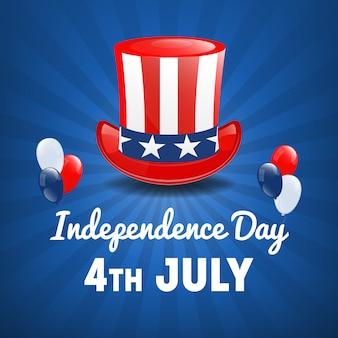 Jour de l'indépendance américaine. 4 juillet usa holiday. contexte de la fête de l'indépendance. illustration vectorielle
