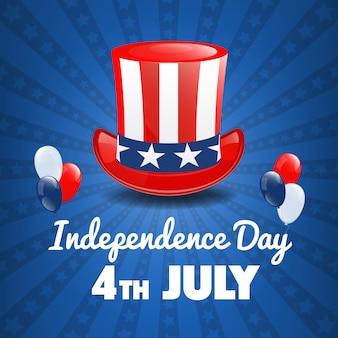 Jour de l'indépendance américaine. 4 juillet usa holiday. le jour de l'indépendance