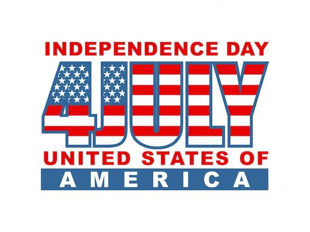 Jour de l'indépendance de l'amérique 4 juillet